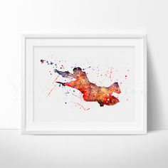 Harry Potter Watercolor Nursery Art Print Wall Decor