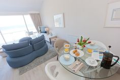 Opening plan living/dining with stunning sea views.