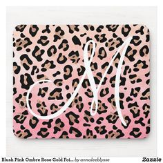 Ombre Rose Gold, Rose Gold Foil, Custom Mouse Pads, Online Gifts, Blush Pink, Personalized Gifts, Monogram, Color, Design