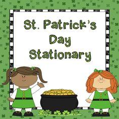 St. Patrick's Day Stationary FREEBIE! Enjoy!