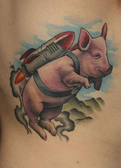 Gabe Morton. Flying pig!!!