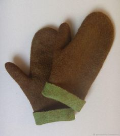 "Mittens ""Вeech tree"". Felted."