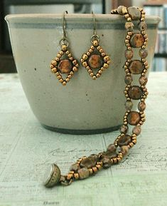 Linda's Crafty Inspirations: Honeycomb Stackers & Tiny Honeycomb Earrings Sets