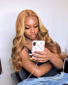 """Kashmere Hair Collection LLC on Instagram: """"ISSA KASH DOLL Frontal sew in + custom color 🙌😍 HAIR FROM : @kashmerehairco"""" Blond Ombre, Blonde Wig, Blonde Hair Sew In, Ombre Hair, Ash Blonde, Blonde Ombre Weave, Blonde Natural Hair, Caramel Blonde, Light Blonde"""