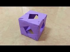 Origami Cube, Paper Crafts Origami, 3d Design, Diy Art, Quilling, Drawings, Artwork, Youtube, Projects