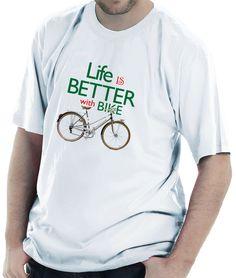 camiseta para quem curte pedalar