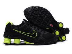 Nike Shox R6 Black Green Shoes For Men