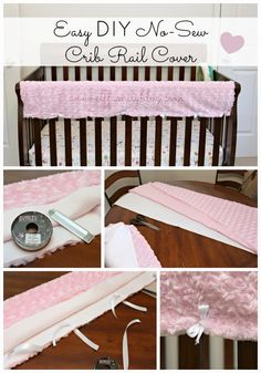 ELF: A Family Blog: Easy DIY No-Sew Crib Rail Cover {tutorial}