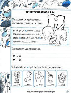 Mis deberes 1 - Betiana 2 - Álbumes web de Picasa                              … Spanish Alphabet, School Worksheets, Pink Kids, Craft Activities, Acting, Kindergarten, Preschool, 1, Teacher