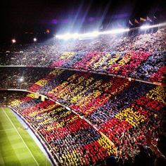 Barcelona Spain to see Messi play! Fc Barcelona, Camp Nou Barcelona, Barcelona Players, Real Madrid Players, Barcelona Football, Barcelona Catalonia, Soccer Stadium, Soccer Fans, Football Stadiums