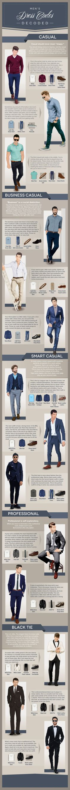 Men's Dress Codes Infographic Mens fashion Infographic Ultimate Graphics Designs is your one stop shop for all your Graphics And Video Solutions!