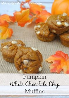 Pumpkin White Chocolate Chip Muffins- perfect way to celebrate fall!