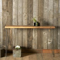 Rustic Console Table - 4 Ft. | dotandbo.com For printer area. Might not be very functional. And may be too skinny for printer.