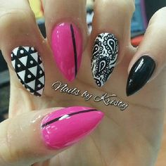 Love the colors.. Not the nails (stiletto)