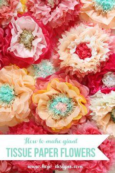 Oversized tissue paper flowers diy tutorial pinterest paper how to make giant tissue paper flowers mightylinksfo