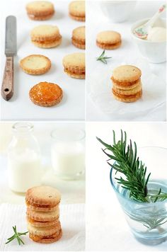 Rosemary and Apricot Shortbread Cookies