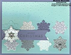 Handmade Christmas card using Stampin' Up! products - Flurry of Wishes…