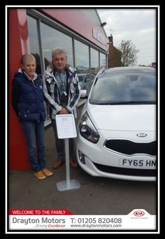 Mr & Mrs Beskas collecting their new Kia Carens from Vanessa | by draytonkia
