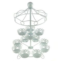 Metal Carousel Cupcake Holder 2 Tier 16-inch by PartySpin on Etsy
