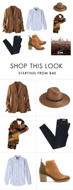 """""""autumn style"""" by ghei on Polyvore featuring mode, Uniqlo, rag & bone, Wilsons Leather, AG Adriano Goldschmied, Saint James, Polo Ralph Lauren et Miista"""