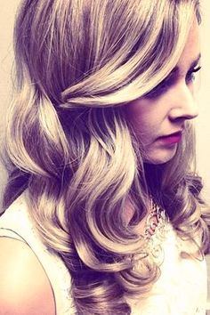 Romantic Side Swept Waves