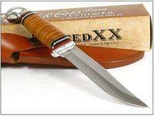 Couteau Case Hunter. 323-5SS pattern CASE XX 0385 Leather FIXED HUNTER Knife + Etui CA385 - CASE Made In USA Couteaux CASE Made In USA