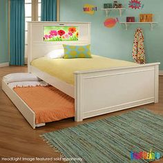 LightHeaded Beds Riviera Full with Trundle, White