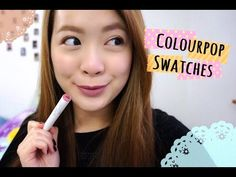 Colourpop Haul + Swatches + Review❤   misssmileyp - YouTube