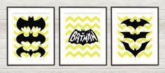 Batman Chevron Print Set 01  Batman Nursery  by TheCuttingEdgeShop, $28.00