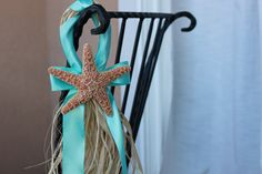 Beach Wedding Chair or Aisle Starfish Decor by MyWindansea on Etsy, $10.00