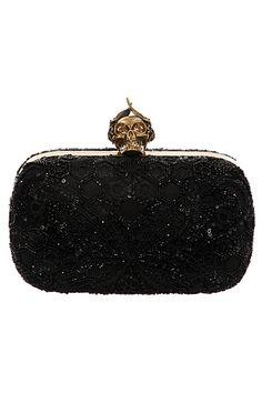 Bolso de fiesta negro de Alexander McQueen