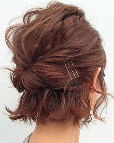 Messy Bun, Shoulder Length, Updos, Hair And Nails, Bobby Pins, Hair Cuts, Hair Accessories, Hair Styles, Beauty
