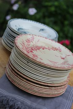 Vintage French plates are always a revolving collection!