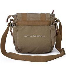 Satchel, Crossbody Bag, Canvas Messenger Bag, Vintage Canvas, Small Shoulder Bag, Small Bags, Army Green, Diaper Bag, Gifts