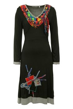 Great details with B stripes and color Orientique Changing Lanes Dress