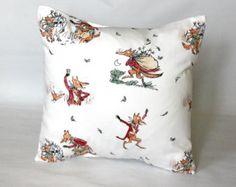 Decorative pillow Fantastic Mr Fox Roald dahl throw pillow red orange brown cartoon book cover cushion shams designer One 16 inch