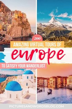 Amazing Virtual Tours of Europe | 200 Ways to Travel Europe from Home | Europe Virtual Travel | Europe Virtual Vacation | Europe Staycation | France Virtual Tours | Italy Virtual Tours | Europe Virtual Tours | Virtual Museums European Travel Tips, Europe Travel Guide, Travel Destinations, Travel Tours, Virtual Travel, Virtual Tour, Ultimate Travel, Prague Castle, Travel Inspiration