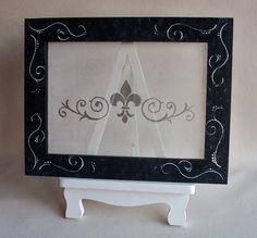 Earring  Organizer  Frame and Easel  Fleur De Lis by LegacyStudio, $39.95