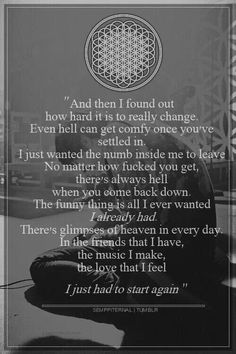BMTH- I listen to hospital for souls everyday. This quote right here gets me through everyday and reminds me of all the good I have in my life when I feel empty and alone. <3