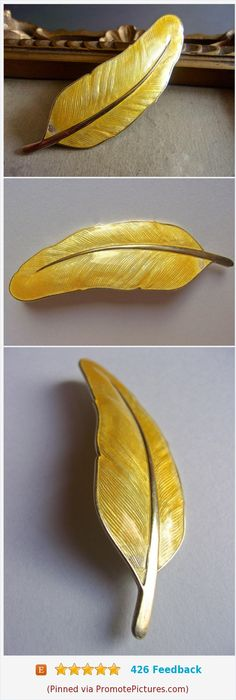 Yellow Feather Enamel Sterling Brooch Pin, E Dragsted Guilloche, Vintage #brooch #pin #feather #yellow #Dragsted #guilloche #enamel #scandinavian #danish #vintage #sterlingsilver https://www.etsy.com/RenaissanceFair/listing/577322007/yellow-feather-enamel-sterling-brooch?ref=listings_manager_grid  (Pinned using https://PromotePictures.com)