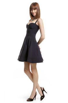 Z Spoke Zac Posen, Navy Flirt and Flare Dress @ Rent the Runway; rent designer dresses for your special ocassions!