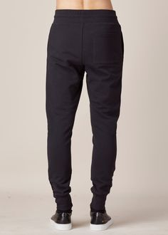**FREE SHIPPING**   * Brand new from F/W 15 * Size small * Navy blue cotton blend jogger  * Quilted cupro layer at front * Elasticized waistband with drawstring * Slip pockets at seam * Sing patch pocket at rear * Banded Cuffs * Retail $405 * 84% Cotton, 10% Cupro, 5% Polyester, 1% Polyamide * Made in Turkey