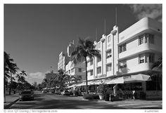 South Beach Miami, Florida, Street View, Black And White, Traveling, Image, Art, Viajes, Art Background