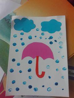 Umbrella - kids craft easy