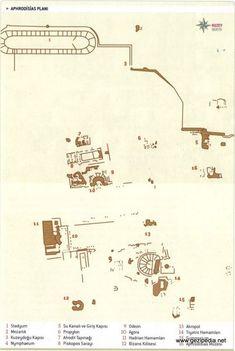 Aphrodisias Antik Kenti Haritası