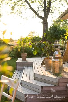 Home Terrace Garden Inspirations Beautiful Addition To Every House . fences for the terrace, see t Back Gardens, Outdoor Gardens, Outdoor Rooms, Outdoor Decor, Scandinavian Garden, Decks And Porches, Terrace Garden, Garden Planning, Garden Inspiration