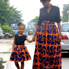 #african print dress for mum and daughter #colorful #fashion