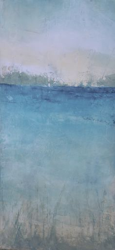 """""""Steps to Simplicity"""" was created with the Emerald Coast in mind by Lori Drew in oil and cold wax.  See more at www.loridrew.net"""