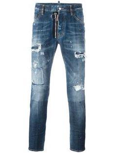 Skater  destroyed jeans Jeans Skater, Jeans Déchirés Hommes, Jeans Hommes,  Jeans 9b2b4a694171
