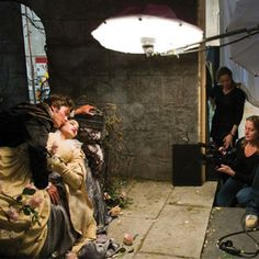 Annie Leibovitz shooting Zac Efron and Vanessa Hudgens as Prince Phillip and Princess Aurora from Sleeping Beauty.